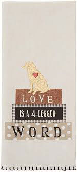 Four legged Word towel