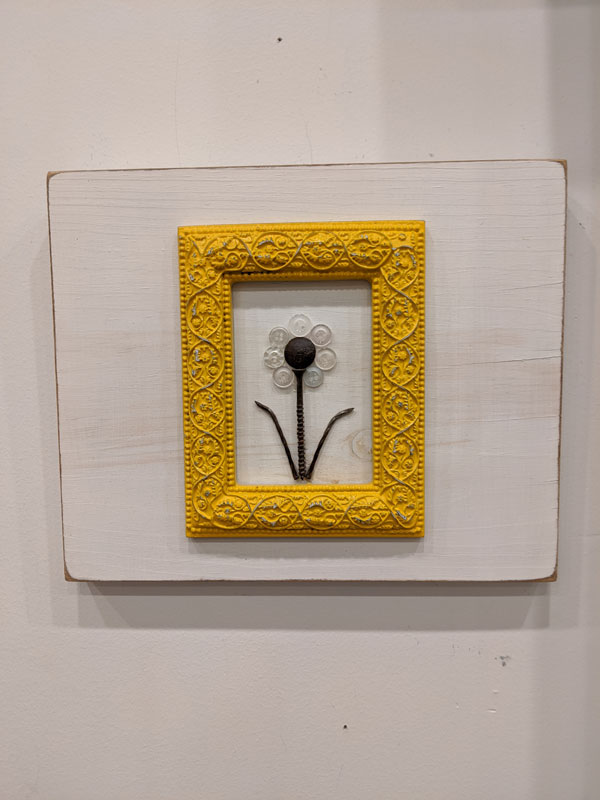 Yellow framed flower